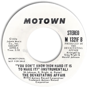 The Devastating Affair, Motown 1321