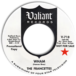 The Francettes, Valiant 718