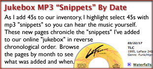 Browse Jukebox MP3 Snippets By Date