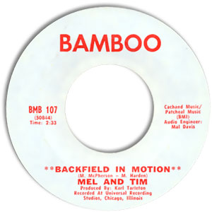 Backfield In Motion/ Do Right Baby