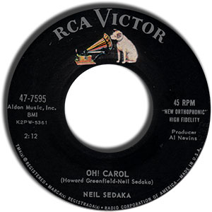 Oh Carol/ One Way Ticket (To The Blues)