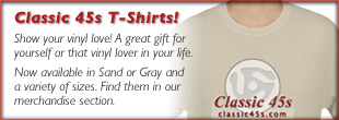 Classic 45s T-Shirts: Show your vinyl love! A great gift for yourself or that vinyl lover in your life.